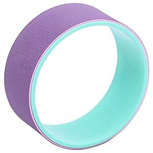 QUBABOBO Yoga Rad Stärksten Dharma Prop Circle Wheel für Yoga Posen backbends Verbessert Balance und Rücken-Flexibilität (13″x5″)