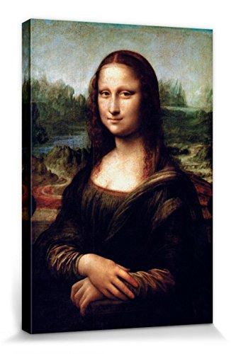 1art1 110152 Leonardo Da Vinci - Mona Lisa Poster Leinwandbild Auf Keilrahmen 30 x 20 cm