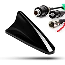 Adaptador de Universe Shark Tiburón Antena aletas tejado Raku II FM GPS para Opel, color negro