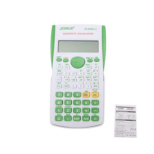 HONGYUANZHANG 12 Digital Electronic Scientific Calculator 240 Multifunktions-Taschenrechner 2-Zeiliges Lcd-Display Für Schule, Universität Und Wirtschaft (15,3 × 7,8 × 1,3 Cm), Grün