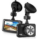 LeBenDehen Auto Armaturenbrett Kamera full mit HD 1080P, 3' LCD 170 Grad Weitwinkel Kameras Rekorder...