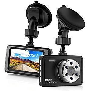 Busuo auto dash cam full hd 1080p, con schermo lcd da 7,6 cm a 170 gradi grandangolo dashboard telecamera registratore per auto con con g-sensor, wdr, loop recording