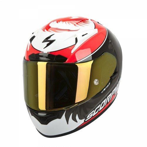 Scorpion 36-159-131-06 exo-2000 evo air casco sportivo con calotta esterna in fibre composite multicolore