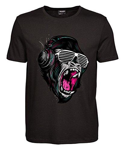 makato Herren T-Shirt Luxury Tee Jungle Sound Black