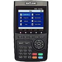 ZHITING-WS-6916 Medidor de señal de señal satelital HD, DVB-S / S2 Digital Directv Dish Network Satellite TV Finder con MPEG-2 / MPEG-4, Negro