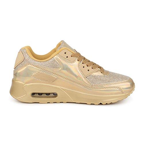 Ouro Sapatilha botas Mulheres Correndo Homens As Unissex Best Sapatilhas Brilhantes Calça wpqvA6wZ