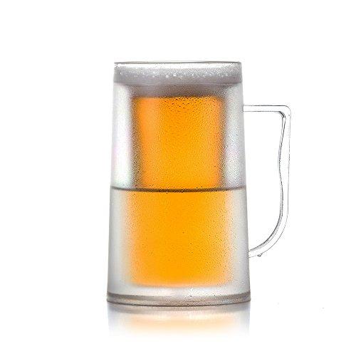 er Bier Krug, Bierkrug Hält Kühl, Glas mit Doppelwand, Kaltes Getränk ()