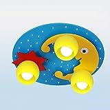 Tkind Karikatur Deckenleuchte LED Holz Glas Deckenlampen Kreative Sternenklarer Himmel Deckenstrahler Stilvolle Lovely Deckenbeleuchtung Dekorative für Kinder Mädchen Zimmer Schlafzimmer Prinzessinzimmer Kindergarten Cafe Wohnzimmer E27×3, Ø 50cm