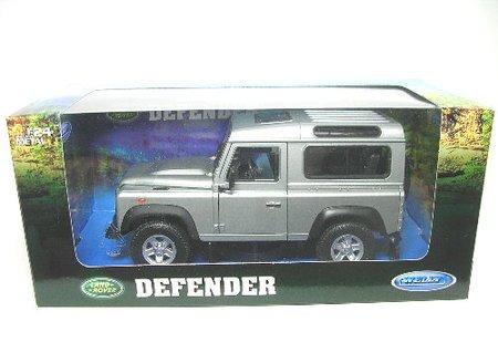 Welly 22498silver - Sammlermodell Land Rover Defender, 1/24 aus Metall, silber