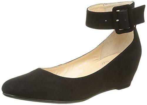Jb Martin 1 Grapa H16, Ballerine Donna Noir (Chevre Velours Noir)