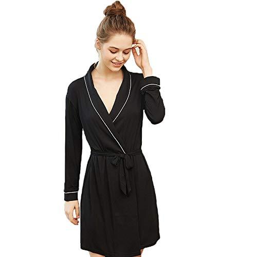Forall-Ms Damen Baumwolle Robe Kimono Bademantel weich/leicht/Plus Size Sommer Braut Brautjungfer Bademantel Bestickt Pyjamas personalisierte Handtuch ()