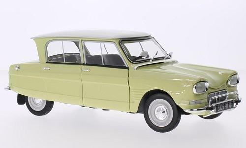 Citroen Ami 6, gelb/weiss, 1964, Modellauto, Fertigmodell, Norev 1:18