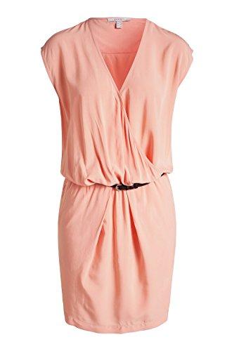 Esprit - Robe - Portefeuille - Uni - Manches courtes - Femme Rose (Apricot 875)