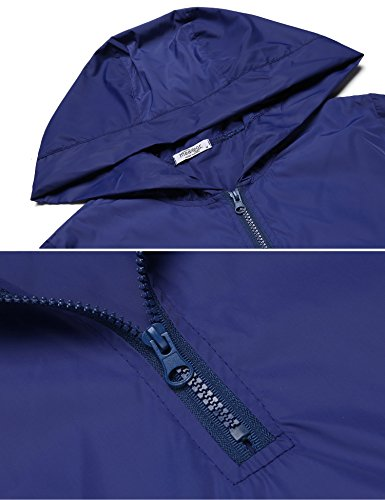 Legros Damen Regenjacke Fahrrad Wasserdicht Atmungsaktiv Regenmantel Regenponcho Königsblau