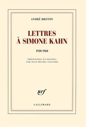 Lettres  Simone Kahn: (1920-1960)