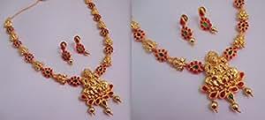 LittleFingers One Gram Gold Coated Traditional Mango Necklace