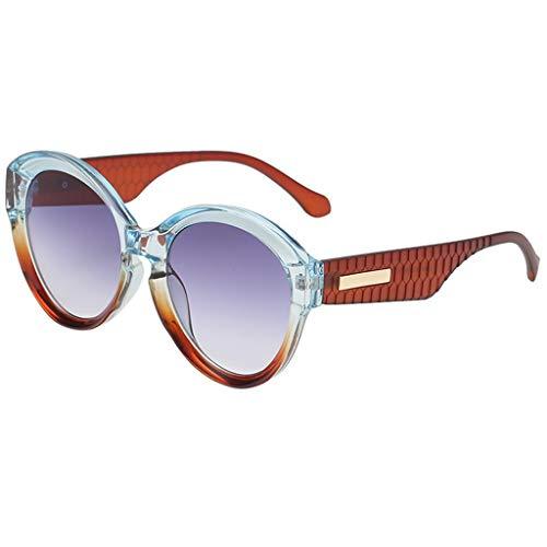 fazry Große Sonnenbrille Damen Herren Vintage Retro Mode Unisex Brillen Gr. Einheitsgröße, a