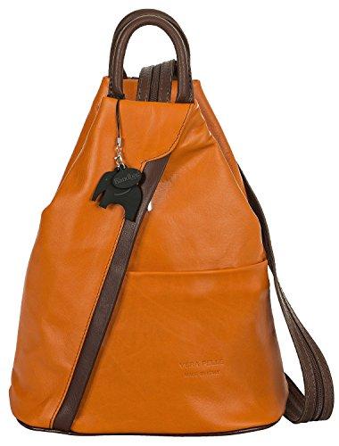 Big Handbag Shop, Borsa a zainetto donna Orange (Brown Trim)