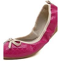 ZQ Da donnaCasual-Comoda / Punta arrotondata-Piatto-Microfibra-Nero / Rosa / Fucsia / Tessuto almond , pink-us8.5 (Fucsia Tessuto Calzature)