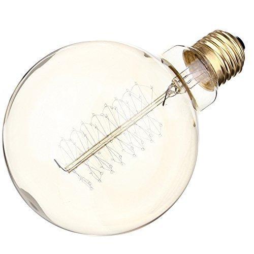 4er-Pack] Vintage große Edison-Glühbirne 60 W Glühbirne Antik Dimmbar Glühbirne Dimmbar für Heim-Glühbirnen Eichhörnchen Käfig Glühfaden E27/E26 Sockel G95/G30 110 V (4 Stück)