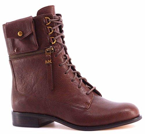 Women's Shoes Ankle Boots MICHAEL KORS Zana Bootie Leather Mocha Vintage Cow...