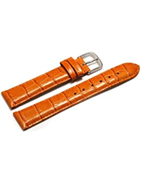 Uhrenarmband - Orig. Watchband Berlin - Kroko Prägung - orange - 16mm