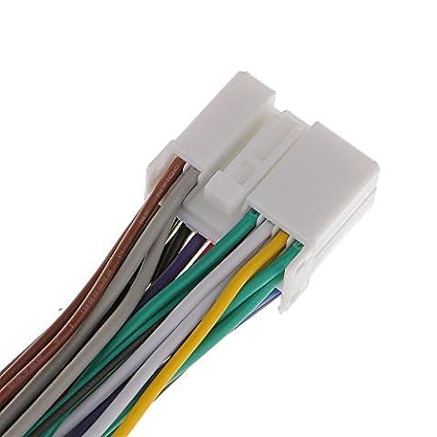 Gazechimp Y Strom Adapterkabel mit Verriegelung, Y Splitter Stromkabel für Honda Aux CD Changer Navigation XM Ipod Adapter