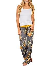 Mujer Verano Ocasional Suelto de Elástico Aptitud Yoga Trotar Pantalón de Deportes Moda Camuflaje Florales Impresa Playa Sport Pantalones