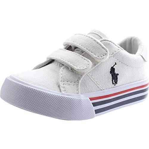 Polo Ralph Lauren Edgewood EZ Weiß Segeltuch 25 EU - Lauren Kinder Sneaker Ralph Polo