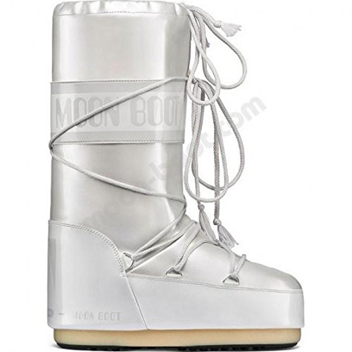 Moon Boot Stivali Vinile Met. White 39/41 Junior