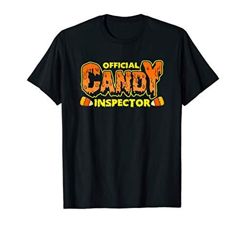 Offizieller Candy Inspector! Lustiges Halloween-Kostüm T-Shirt