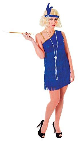 Ladies Blue Pink Glam Flapper 1920s 20s Hen Do Fancy Dress Costume Outfit 10-12-14 - Glam Flapper Kostüm Für Erwachsene