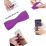 ONX3 (Purple) HTC One M9+ Supreme Camera Universal Anti-Rutsch-Gummi Finger, Handy-Griff-Halter mit Starker Klebe