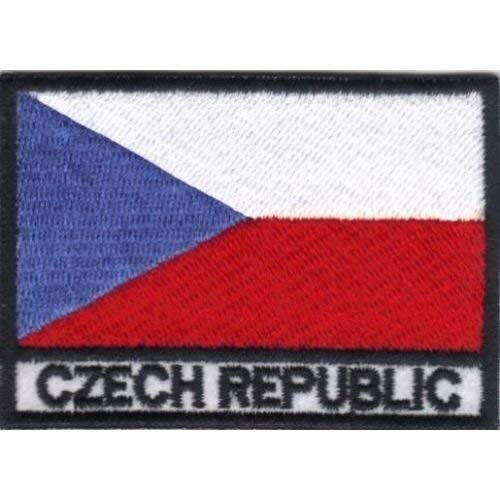 Patch Bandera REPÚBLICA CHECA cm 7 x 5 Parche Bordado