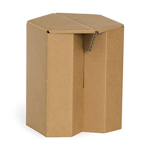 10 Hocker aus Pappe MAKS Original Papphocker 10 Stück recycelbar pro Stück 11,50 € im 10er Pack naturbraun