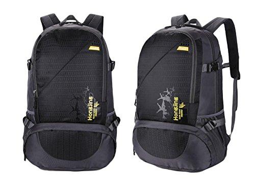Borsa 45L di corsa della spalla di grande capienza Outdoor Alpinismo pacchetto Movimento Tempo libero , purple Black