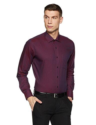 Van Heusen Men's Solid Slim Fit Formal Shirt (VHSF318M011559_Violet_42)
