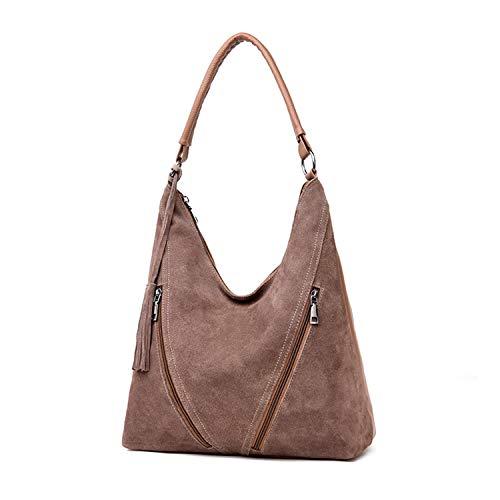 Faux Suede Tote Bag (Frauen Echt Wildleder Handtasche Weibliche Vintage Umhängetaschen Luxuriöse Damen Big Tote Hochwertige Frauen Umhängetasche)