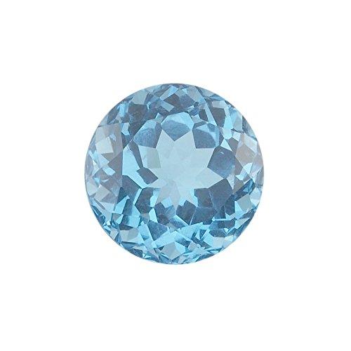 Be You Naturelle Brésil Topaze Bleue Suisse AA Qualité 1.25 mm Taille Facettes Rond Forme Pierres précieuses en Vrac 50 Pièces