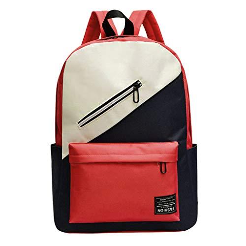 erthome Mode Paar Nylon Schultasche Rucksack Hit Farbe Studenten Reise Umhängetasche Diebstahl Tasche Damen Hobo Tasche für den Alltag Büro Schule