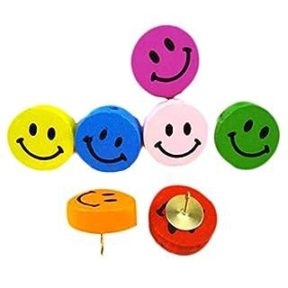 Nette bunte Lächeln Gesicht Thumbtack Kreative Pushpins