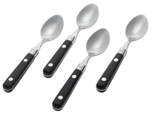 Ginkgo International Le Prix Stainless Steel Demitasse Spoons, Black, Set of 4 Ginkgo Demitasse