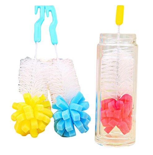 Da.Wa Lange Griff Schwamm Reinigung Pinsel Tasse Pinsel, Baby Milch Flasche Pinsel, Random Color