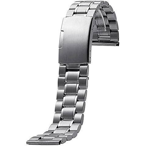 Gossip Boy pulsera banda de reloj de acero inoxidable para Motorola Moto 3602nd 46mm, color Plateado -