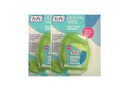 2x TEPE Dental Tape 40 m Zahnseide