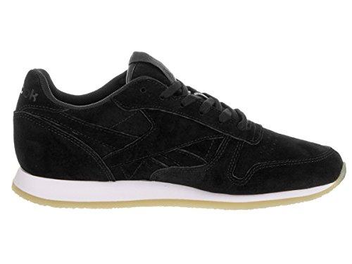 Reebok Classic Leather Crepe Femme Baskets Mode Noir Noir