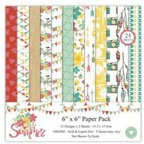 "Summer Paper Pack - 6""X6"" 24 sheets/Pkg"