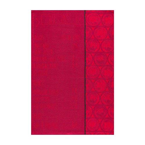 Le Jacquard Francais Torchon La carte Coton Tanin Rectangulaire 50 x 70 cm