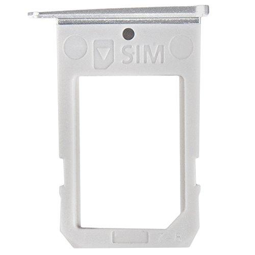 kartenhalter White/weiß für Samsung G925F Galaxy S6 Edge (SIM Tray) - GH98-35872B ()