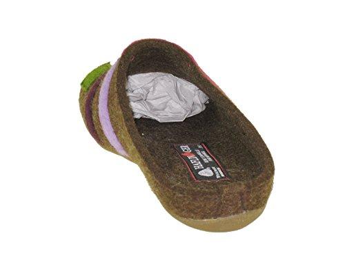 Haflinger carmen 483064 chaussons chaussures pantoufles sabots Marron - Schoko